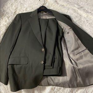 Men's dark green tuxedo